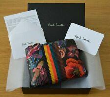 PAUL SMITH Artist Bright Stripe Ocean Print Hawaiian leather Zip Around wallet