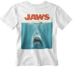 Jaws T-shirt Movie poster 70s 80s shark movie film retro yolo gift official uk