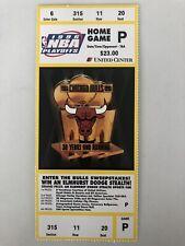 RARE! 1996 CHICAGO BULLS NBA PLAYOFFS UNUSED TICKET MICHAEL JORDAN CHAMPIONSHIP