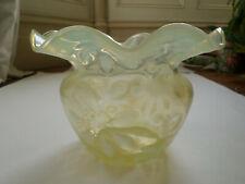 More details for richardsons stourbridge vaseline uranium rare glass vase 1890's
