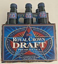 Vintage 1995 Royal Crown Draft Cola FULL 6-Pack - RC Cola's Premium Cola