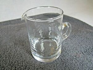 Lovely Vintage Clear Glass Milk / Cream Jug Holds 200ml