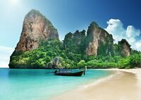 Awesome Thai Beach Poster Print Size A4 / A3 Thailand Nature Poster Gift #13076