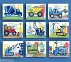Construction trucks wall art decor for boy Bedroom or Nursery Art Prints