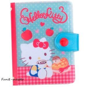 Hello Kitty Business ID Credit Card Holder Organizer Case Book Wallet+Zip Pocket