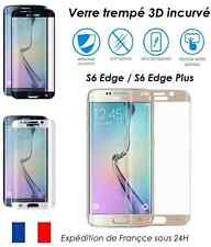 Film intégral incurvé verre Trempé 3D Galaxy S6 Edge et PLUS couverture totale