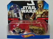 Star Wars - Hot Wheels - Voitures R2-D2 & C-3PO - Neuf