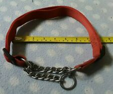 LARGE HALF CHOKE / CHECK CHAIN DOG COLLAR FOR LARGE BREED DOGS