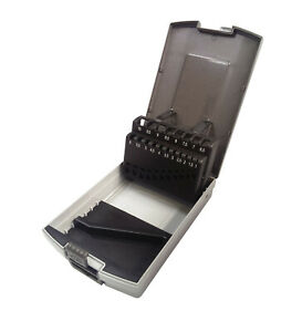 Bohrerkassette LEER für 19 Bohrer 1 - 10 mm Kunststoffkassette Rose Bohrerbox