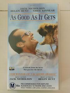 As Good As It Gets - Jack Nicholson & Helen Hunt - VHS Movie Free Postage