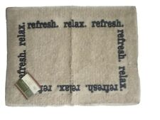 "Home Collection Bath Mat  ""Relax Refresh"" 15""x21"" New"