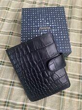 Filofax Classic Croc Pocket Organizerplanner Ebony Color Leather