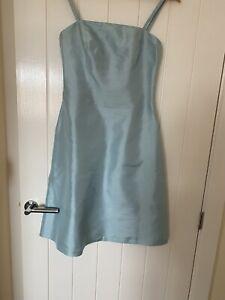 Blue Raw Silk Dress Size 10