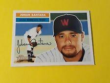 2005 Topps Heritage Johan Santana 296-B  W  on Cap. Washington Senators/Twins SP