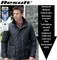 Mens Quilted Insulated WINTER Country Riding JACKET, Navy Black S M L XL 2XL 3XL