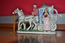 Carrozza con cavalli di porcellana anno 1970-Carriage with porcelain horses year