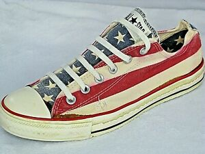 Chuck Taylor All Star Red White Blue Stars Stripes Mens 7.5 Converse Sneakers