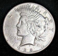 1928 Silver Peace Dollar $1. Key Date!