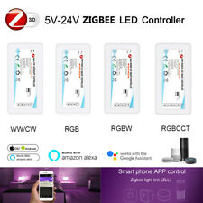 ZIGBEE 3.0 LED Controller work with Alexa Google Home for 5050 RGBCCT RGBW Strip