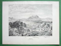 GREECE View of Corinth - 1882 Antique Print