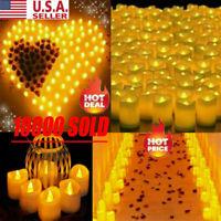 72PCS Flameless Votive Candles Battery Operated Flickering LED Tea Light USA