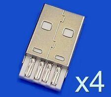 4x Connecteur à souder USB type A male / 4x USB type A Male solder connector