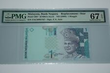 (PL) NEW: RM 1 ZAC 0095767 PMG 67 EPQ ZETI 2 ZERO LOW NUMBER REPLACEMENT GEM UNC