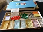 Vintage Monopoly Board Game 1961 Parker Brothers Hotels Dice Cards Incomplete