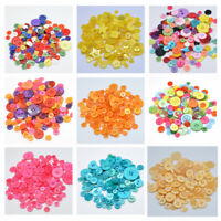 100Pcs Buttons Round DIY Sewing Crafts for Scrapbook Apparel Resin Size Mixed