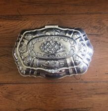 Vintage Silverplated Footed Jewelry/trinket Box W/ Hinged Lid *Free Shipping*