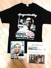 "Obama Inauguration Size ""L"" TShirt,People Magazine & Newspaper"