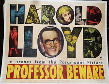 PROFESSOR BEWARE! '38 HAROLD LLOYD CLASSIC COMEDY HALF-SHEET FILM POSTER!