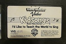 KIDSONGS: I'D LIKE TO TEACH THE WORLD TO SING VHS 1986