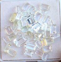 Natural White Topaz 45.10 Cts Cushion Cut Untreated Gemstone 7x9 MM