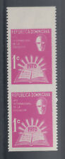 Dominican Rep 1970 Books Education Yr Sc RA48  imperf horz pair MNH