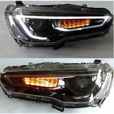 LED Audi Look Blackout Headlights For Mitsubishi Lancer / EVO 2008-2017 Set 2
