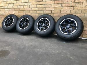 Toyota Hilux Rugged X Genuine 17 inch Wheels and Tyres Near New Set of 4
