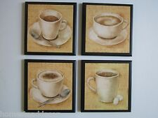 Coffee Cups Country Kitchen Wall Decor Plaque, yellow, 4 pictures