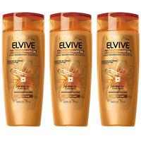 3-Pack New L'Oréal Paris Elvive Extraordinary Oil Deep Nourishing Shampoo 12.6oz