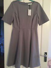 Reiss Grey Tianna A Line Dress Size 12 Bnwt New