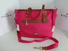 $395 COACH 37758 SAWYER BABY Diaper Weekend Tote SATCHEL Crossbody Shoulder bag