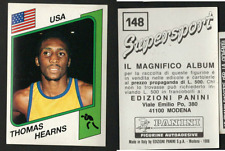 """Hitman"" Thomas Hearns (USA) Panini Boxing CARD Supersport 1986!! NEW n.148!!"