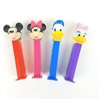 Mickey Mouse Pez Dispenser Vintage Lot of 4 Donald Duck Daisy Minnie Disney