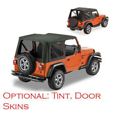 Jeep Wrangler TJ Soft Top 1997-2002 Black, Replacment With Door Skins