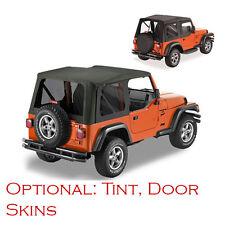 Jeep Wrangler TJ Soft Top 1997-2002 Black, Replacment With Door Skins