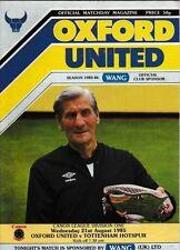 Division 1 Home Teams O-R Oxford United Football Programmes