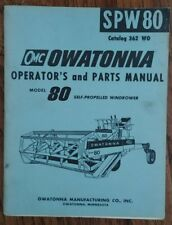OWATONNA OMC 80 SELF PROPELLED WINDROWER TRACTOR PARTS CATALOG MANUAL SPW80 362