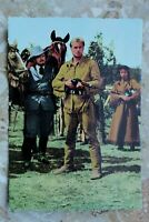 Kino Film Postkarte AK OLD SHATTERHAND 1960-70s Lex Barker Gewehr Pferd Karl May