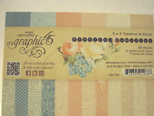 GRAPHIC 45 PRECIOS MEMORIES 6X6 PATTERN & SOLIDS COLORS*36 PAPERS3 EACH PATTER