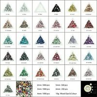 1000 Crystal Flat Back Rhinestones Face Gems Card Making Glitter Beads Embellish